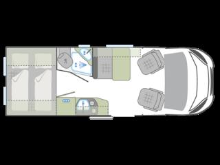 Kastenwagen Querbett