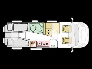 Kastenwagen Einzelbetten